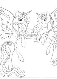 princess luna drawing 24 celestia and coloring pages