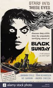 Black Sunday Barbara Steele One Sheet Poster Art 1960 Stock Photo