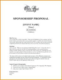 Example Word Documents Template For Resume Sponsorship Package Example Sample Proposal