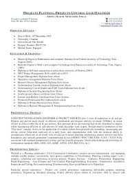 Project Control Engineer Sample Resume Projects Planning ...
