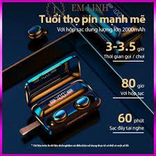 Tai Nghe Bluetooth True Wireless F9 PRO Bluetooth 5.0 | Bản Quốc Tế | Cảm  Ứng | Chống Nước(Loại mới) tại TP. Hồ Chí Minh