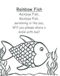 rainbow fish coloring template to color colouring pages for s rainb