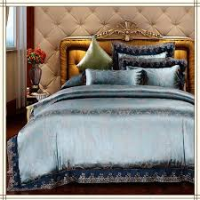 blue and silver bedding designs