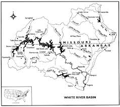 department of natural resources White River Arkansas Map white river basin map white river arkansas map app