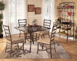 amazing iron dining chairs with black glass square dining table over turn blue dining rugs ashley furniture toledo