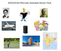 Syllables to be emphasized are underlined for the letters. Nato Icao Phonetic Alphabet Starter Pack Starterpacks