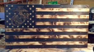 03 sep diy wooden american marine flag