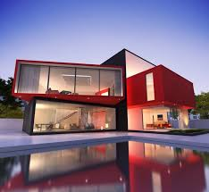 exterior contemporary house colors. view in gallery red-house-exteriors-paint-the-town-pool-ultra- exterior contemporary house colors o