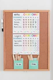 Cork Board Chore Chart A Simple Chore System For Kids That Really Works Free