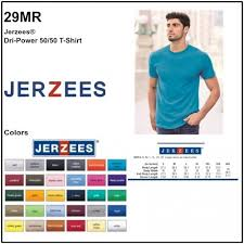 Jerzees 50 50 T Shirt Size Chart Personalize Jerzees 29mr Dri Power Unisex Tee