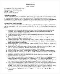 10 Sales Job Description Samples Sample Templates