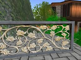 Second Life Marketplace Super Ornate Metal Wrought Iron Railing or