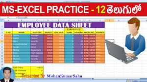 12 Employee Data Sheet Prepare In Excel Excel Practice Tutorials