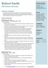 Patient Advocate Resume Samples Qwikresume