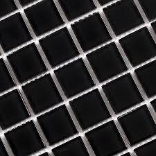 black crystal glass tile mosaic tiles wall stickers sheet sa061