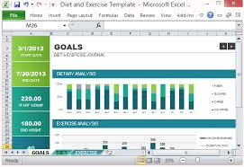 Track Progress In Excel Diet And Exercise Goal Tracking Template For Excel 2013