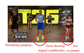 t25 low impact modification of workout no jumps