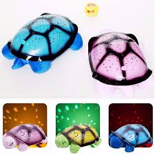 hot 3d night light turtle lamp moon stars projector for baby