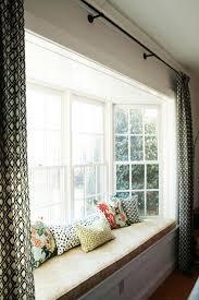 Attractive Window Treatment Ideas for Bay Windows and Window Doors  Curtains  Bay WindowsWindow Seat ...