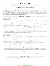 Great Hotel General Manager Resume Hotel Manager Resume Example