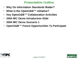 How To Do A Presentation Outline Presentation Outline Why Do Information Standards Matter