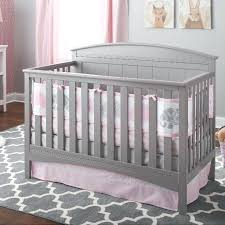 grey and pink crib bedding elephant 3 piece crib bedding set pink and grey chevron and