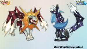 Pokemon Sun and Moon- Legendaries by wyvernsmasher on DeviantArt