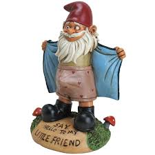 details about ed garden gnome flasher funny novelty say o to my little friend