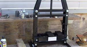 a frame press in work