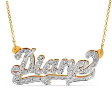 t w diamond and textured scroll name necklace in sterling silver and 14k gold plate 1 line personalized necklaces create your own zales