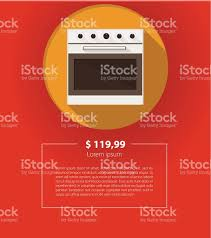 Kitchen Appliances On Credit Vector Ad Layout For Kitchen Appliances White Oven Stock Vector