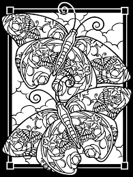 Butterfly Stained Glass Coloring Pages For Adults Coloringstar