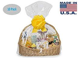 a1 bakery supplies packaged 10pack clear cello cellophane bags gift basket packaging bags 24