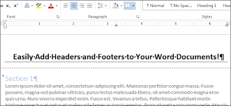 Ms Word Header How To Add A Header Or Footer To A Word Document
