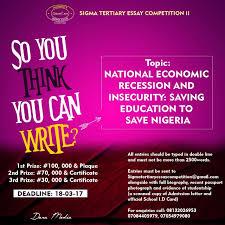 sigma club tertiary essay competition education ia