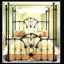 Wrought Iron Canopy Bed Wrought Iron Canopy Bed Frame Queen Interior ...