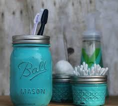 bathroom jars painted