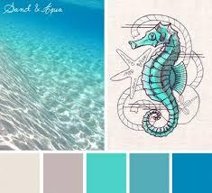 Color Inspirations  Sand & Aqua