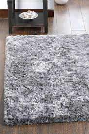 grey fluffy rug blizzard silver gy small light