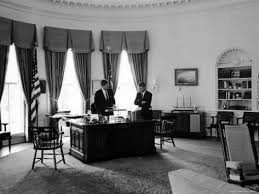 kennedy oval office. President John F. Kennedy In Oval Office With Brother, Attorney General Robert C
