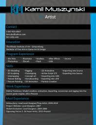 Resume Kamil Muszynski 3d Artist
