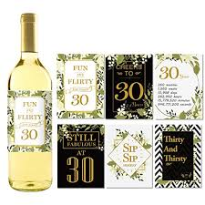 wine bottle stickers 6 30th birthday wine bottle labels or stickers present 1978 bday
