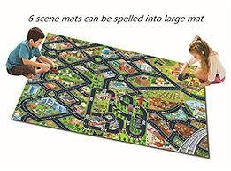 6pc smart kids rug with roads kids rug play mat city street map children