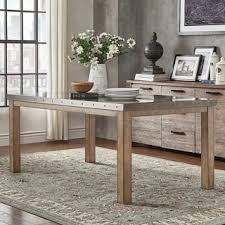Cassidy Stainless Steel Top Rectangle Dining Table by iNSPIRE Q Artisan