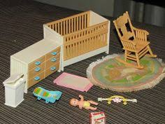 items similar to tomy smaller homes and gardens dollhouse miniature baby nursery furniture dolls house room rare good condition on etsy vintage modern dollhouse furniture 1200 etsy