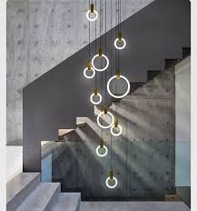dramatic lightodern stairwell