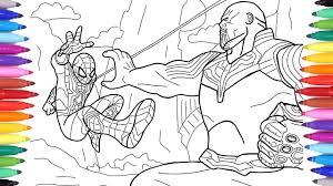 Spiderman Vs Thanos Avengers Infinity War Scene Avengers Coloring