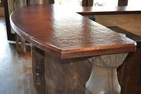 Copper Top Kitchen Table Custom Copper Counter Tops