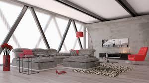 david ferrari panorama italian modern grey fabric and white leather sectional sofa com