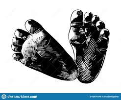 эскиз руки вычерченный младенца подводит итог по столбцам в черноте